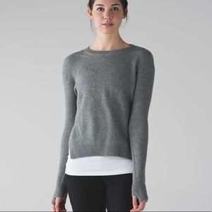 Lululemon Seva Perforated High Low Sweater